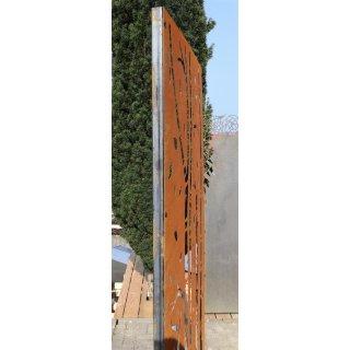 2 x Pfosten für Sichtschutz 200 cm mit Gewinde