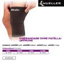 MUELLER Kniebandage ohne Patellaöffnung schwarz,  L...