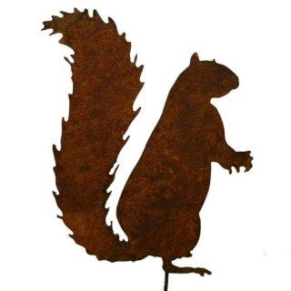 Eichhörnchen auf Stab Edelrost