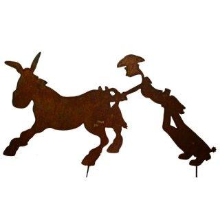 Esel und Cowboy
