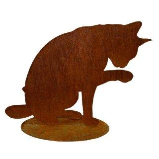 Katze Edelrost auf Platte
