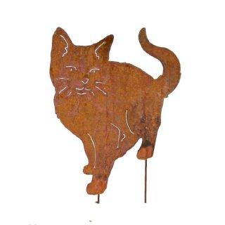 Katze Edelrost auf Stab