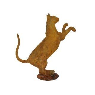 Katze Edelrost stehend für Topf