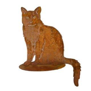 Katze sitzend Edelrost