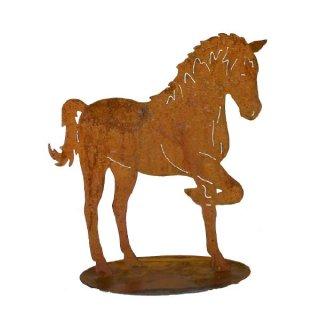 Pferd Edelrost auf Platte
