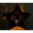 Stern Windlicht Edelrost