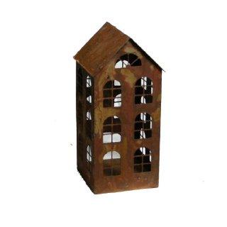 Windlicht Haus Edelrost 30 cm