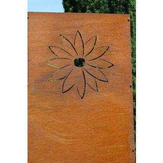 Sichtschutz Edelrost Blumenblütte