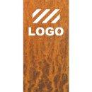 Sichtschutz Edelrost mit Ihrem Logo
