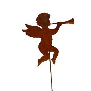 Engel mit Trompete auf Stab