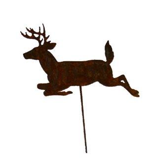 Springender Hirsch auf Stab