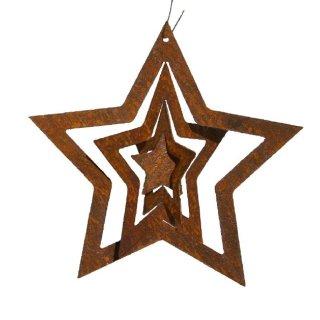 Stern zum Drehen Edelrost