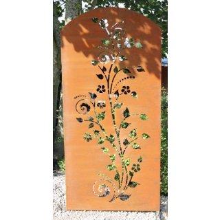 Sichtschutz Edelrost Flower
