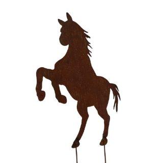 Pferd Gartenstecker Edelrost