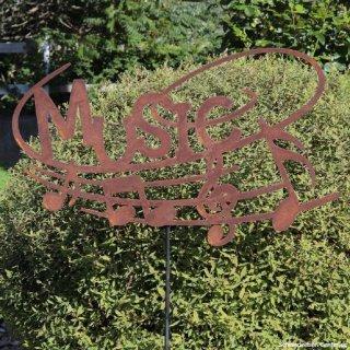 Gartenstecker Music Edelrost