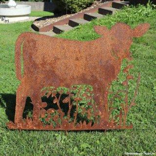 Kuh mit Wiese Edelrost