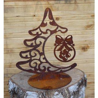 Weihnachtsbaum Schnörkel mit Kugel