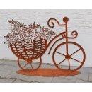 Fahrrad mit Blumen Edelrost