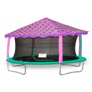 Vordachzelt für Trampolin oval 2,13 x 3,05 Meter violett