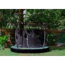 trampolin 3InGround Deluxe,05 Meter schwarz/grün