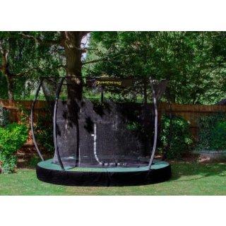 trampolin 3InGround Deluxe,66 Meter schwarz/grün