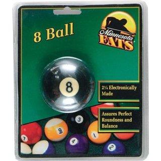 MF Poolball 57,2 mm Durchmesser,  orange/w. / Inhalt 1 Stück