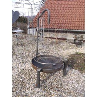 Feuerschale Ø 80 cm mit Galgen und Grillrost