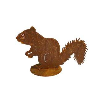 Eichhörnchen Edelrost auf Platte