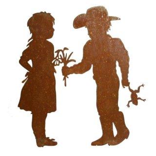 Junge und Mädchen Cowboy Edelrost