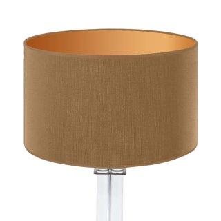 Außen Caramel / innen matt gold Ø 40cm, 20cm Höhe